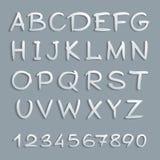 Met de hand geschreven alfabet Stock Foto