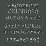 Met de hand geschreven alfabetten Stock Foto's