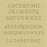 Met de hand geschreven alfabetten Stock Afbeeldingen