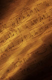 Met de hand geschreven bladmuziek V Stock Afbeelding