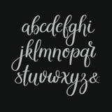 Met de hand geschreven Borstelbrieven ABC Moderne kalligrafie Hand die Vectoralfabet van letters voorzien Stock Foto's