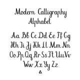 Met de hand geschreven Borstelbrieven ABC Moderne kalligrafie Hand die Vectoralfabet van letters voorzien Royalty-vrije Stock Fotografie