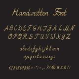 Met de hand geschreven Doopvont, inktstijl Royalty-vrije Stock Afbeeldingen