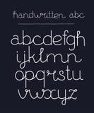 Met de hand geschreven kalligrafie elegante doopvont Royalty-vrije Stock Afbeelding