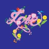 Met de hand geschreven vector - liefde Stock Foto