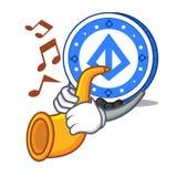 Met de mascottebeeldverhaal van het trompet loopring muntstuk royalty-vrije illustratie