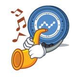 Met de mascottebeeldverhaal van het trompet Nano muntstuk royalty-vrije illustratie