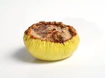 A metà di mela difettosa Fotografia Stock