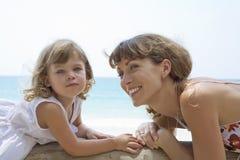 Met dochter stock foto