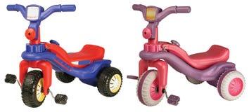 Met drie wielen. Geïsoleerde vector illustratie