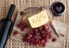 Met een glas wijn Stock Foto