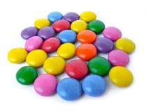 Met een laag bedekt suikergoed Stock Afbeeldingen
