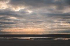 Met een mooie zonsondergang Stock Fotografie