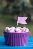 Met een suikerlaagje bedekt suikergoed Stock Foto