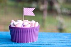 Met een suikerlaagje bedekt suikergoed Stock Afbeelding