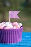 Met een suikerlaagje bedekt suikergoed Stock Afbeeldingen