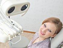 Met een tandarts Stock Foto's