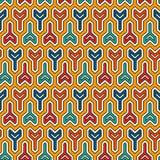 Met elkaar verbindende drie met een riek omgewoelde blokkenachtergrond Het motief van spoelsleutels Etnisch naadloos oppervlaktep stock illustratie