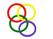 Met elkaar verbindende Ringen stock afbeeldingen