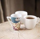 Met en forme de tasse le café de sof Images stock
