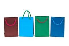 met en sac des achats multicolores Photographie stock libre de droits