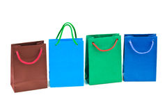 met en sac des achats multicolores Photos libres de droits