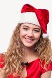 met en sac la femme de Santa Image stock