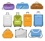 Met en sac le type différent modèles de sac de voyage illustration libre de droits