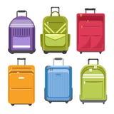 Met en sac le type différent modèles de sac de voyage illustration stock