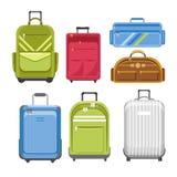 Met en sac le type différent modèles de sac de voyage illustration de vecteur