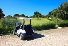 Met fouten in Golfclub Sueno. Stock Foto's