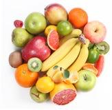 Met fruit in de vorm van een cirkel Stock Foto's