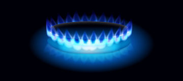 Met gas  Royalty-vrije Stock Afbeelding