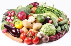 Met groenten in een ovaal. Stock Afbeeldingen