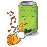 Met het karakterbeeldverhaal van de trompet frisdrank royalty-vrije illustratie