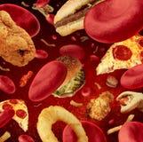 Met hoog cholesterolgehalte vector illustratie