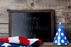 Met inschrijvings Gelukkige Onafhankelijkheid stock foto's