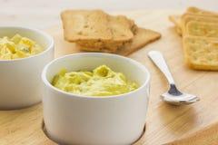 Met kerrie gekruide kippensalade en toost Royalty-vrije Stock Foto