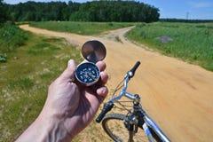 Met kompas het cirkelen Royalty-vrije Stock Foto