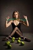 Met laag vetgehalte dieetslachtoffer Stock Afbeeldingen