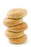 Met laag vetgehalte ongezuurde broodjes Stock Foto