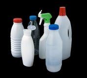 met le plastique en bouteille Photos stock