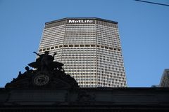 Met life building NYC. stock photo