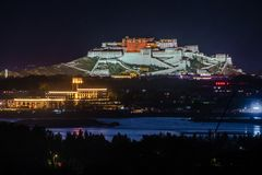 Travelling in Tibet:The majestic potala palace Royalty Free Stock Images