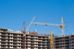 Met meerdere verdiepingen bouwconstructie Stock Afbeeldingen