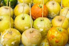 Met met een suikerlaagje bedekte appelen Royalty-vrije Stock Foto