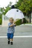 Met mijn paraplu Royalty-vrije Stock Afbeeldingen