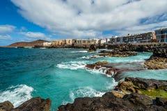 met nadruk op de Verrekijkers Canarische Eilanden royalty-vrije stock afbeeldingen
