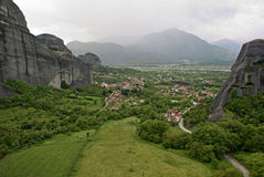 The Metéora, the Plain of Thessaly Royalty Free Stock Photos