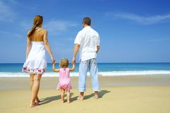Met ouders royalty-vrije stock foto's